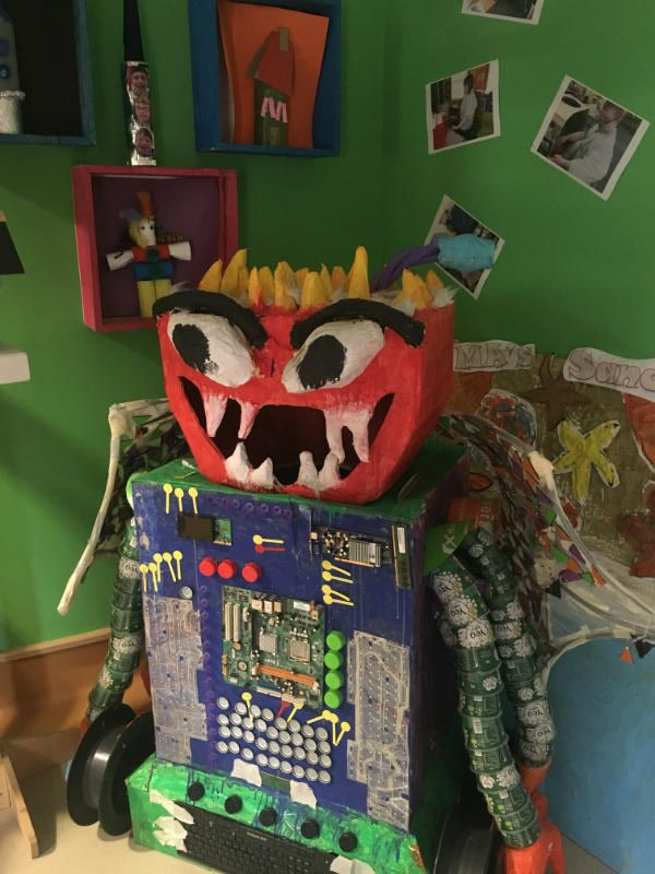 'Junk-Monster' all made from waste material